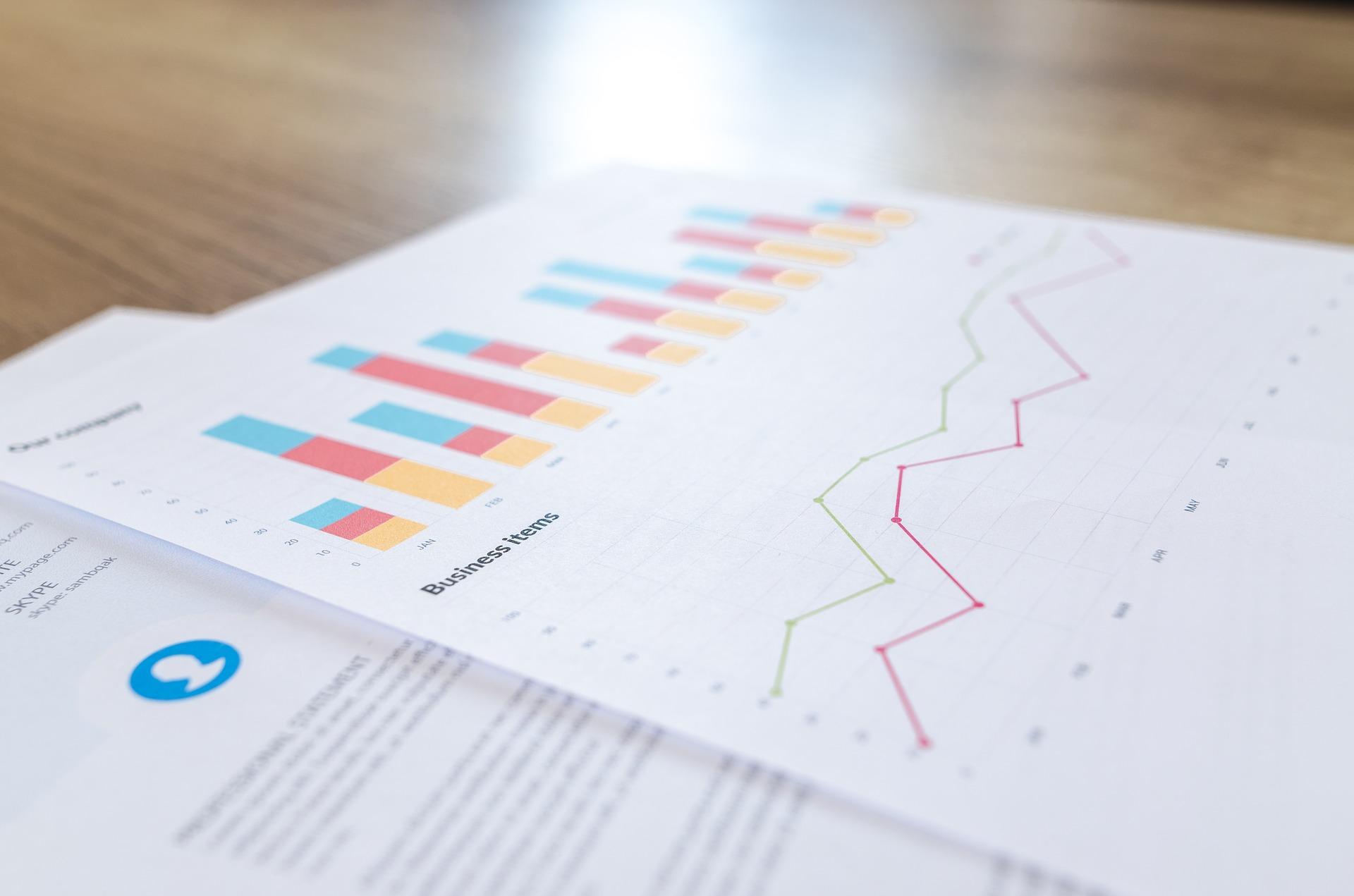 graphique d'investissement